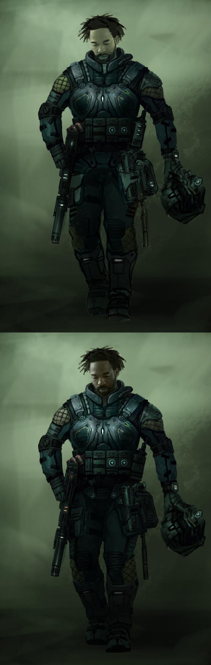 Character design digital painting tutorial pilot  drawing
