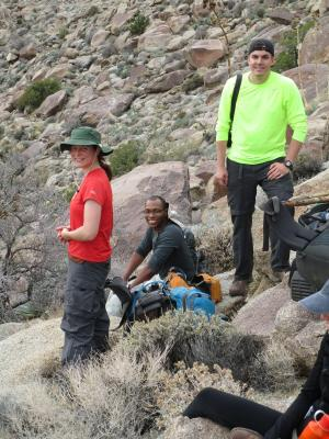Anza Borrego State Park group out hiking