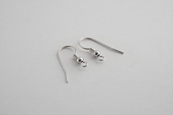 Kljukice za uhane - srebrne, rodinirane