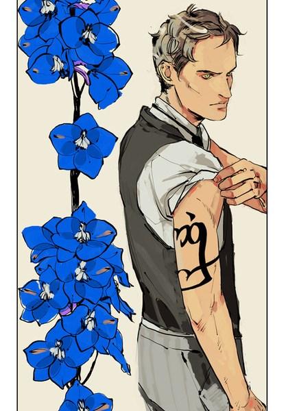 """[ATUALIZADO] Fan Arts dos personagens de """"As Peças Infernais"""" na linguagem das flores!"""