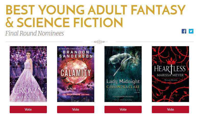 """Dama da meia-noite"" indicado a final do Goodreads Choice Awards 2016!"