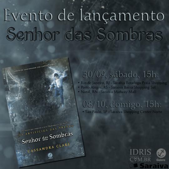 """Encontro de fãs de lançamento de """"Senhor das Sombras""""!"""