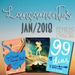 Lançamentos literários brasileiros: Janeiro/2018