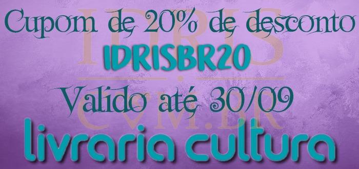 CUPOM DE 20% DESCONTO NA LIVRARIA CULTURA!