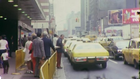 cabs on the streets of Manhattan, 1970s
