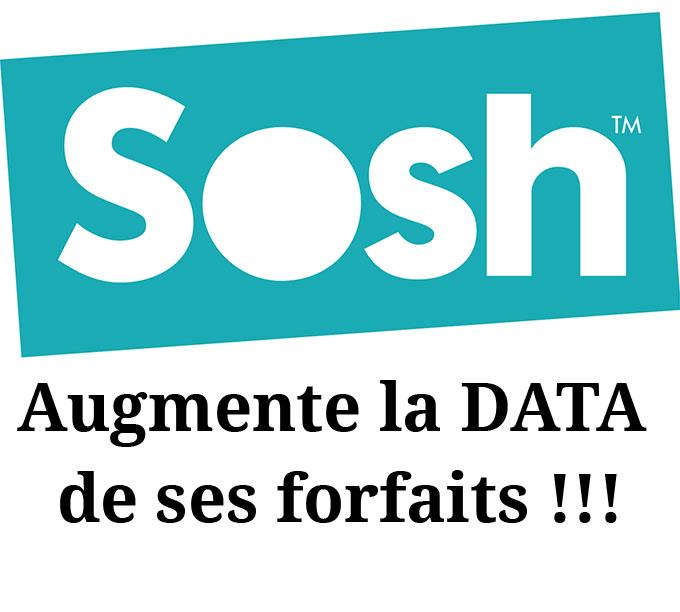 sosh augmente taille data en 2017