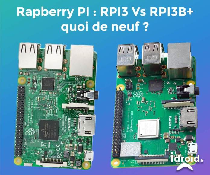 Un nouveau RASPBERRY est arrivé : RPI 3B+ plus puissant et plus fonctionnel que l'ancien RPI 3B