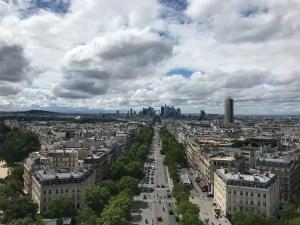 Paris - Vue depuis l'Arc de Triomphe