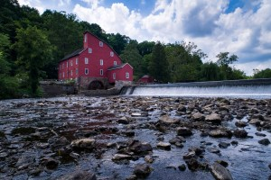 Drone Photo of Red Mill