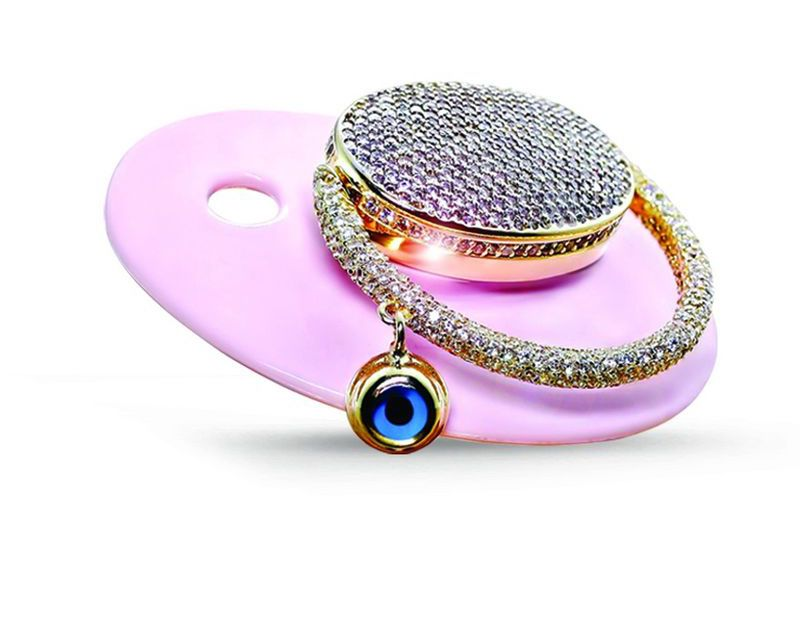 TL 22,000 diamond pacifier attracts attention