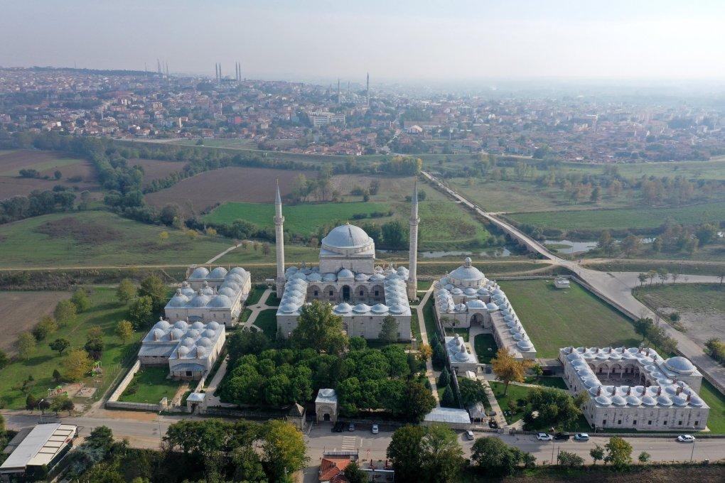 Vue aérienne du complexe Sultan Bayezid II, Edirne, nord-ouest de la Turquie, 1er novembre 2020 (AA PHOTO)