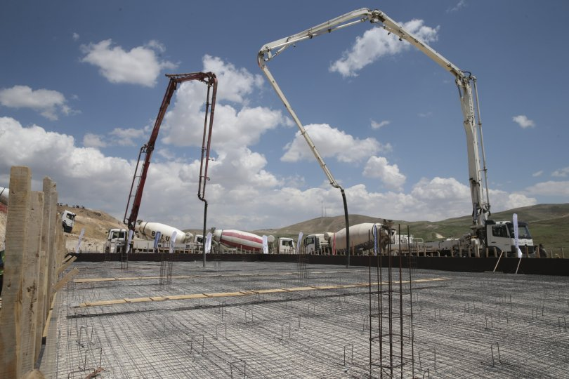 The foundation was laid for the Mollakara gold mining facility in Ağrı, eastern Turkey, June 10, 2021. (AA Photo)