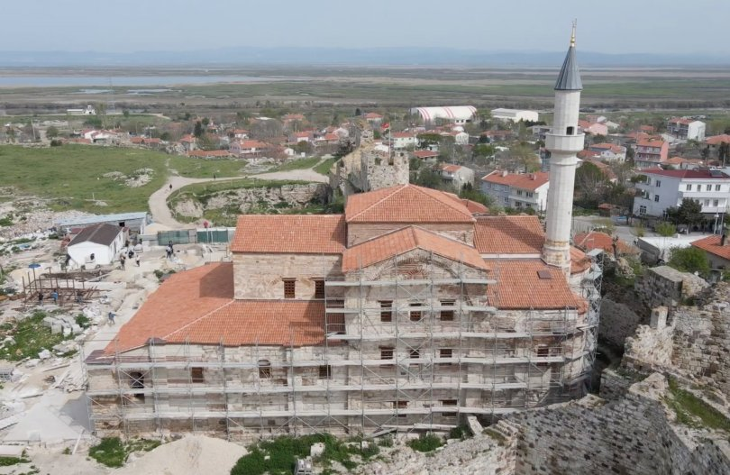 An aerial view from the Enez Fatih Mosque, Edirne, northwestern Turkey, June 13, 2021. (AA Photo)