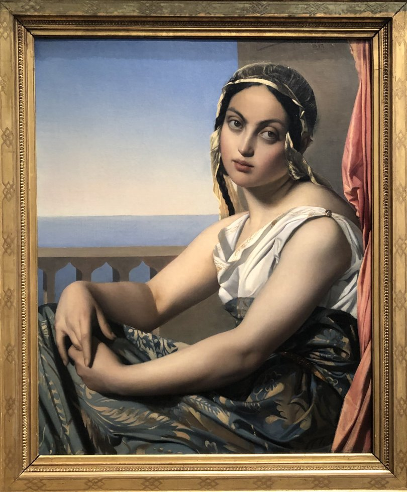 """Henri Lehmann's """"Woman of the 'Orient,'"""" 1837, oil on canvas at the National Gallery of Art in Washington, D.C. , U.S., June 12, 2021. (Photo by Matt Hanson)"""