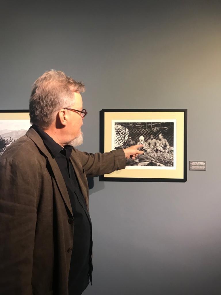 Curator of the exhibition, Peter Sandberg is seen at CerModern, Ankara, Turkey, Oct. 12, 2021. (Photo by Dilara Aslan)
