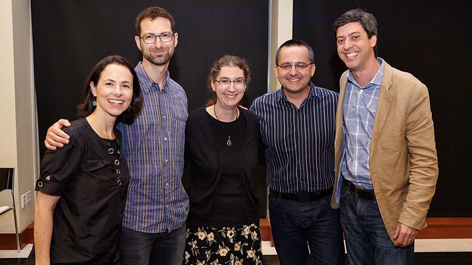 Fernanda Viegas, Martin Wattenberg, Lynn Cherney, Albert-Cairo, and Jonathan Schwabish at the 2nd annual VizUM Symposium 2015