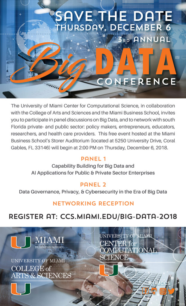 University of Miami 2018 Big Data Conference FLYER