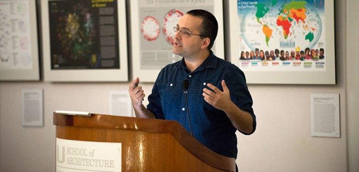 Alberto Cairo speaks at Places & Spaces event University of Miami 2014