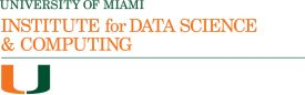University of Miami Institute for Data Science and Computing formal logo in orange and green