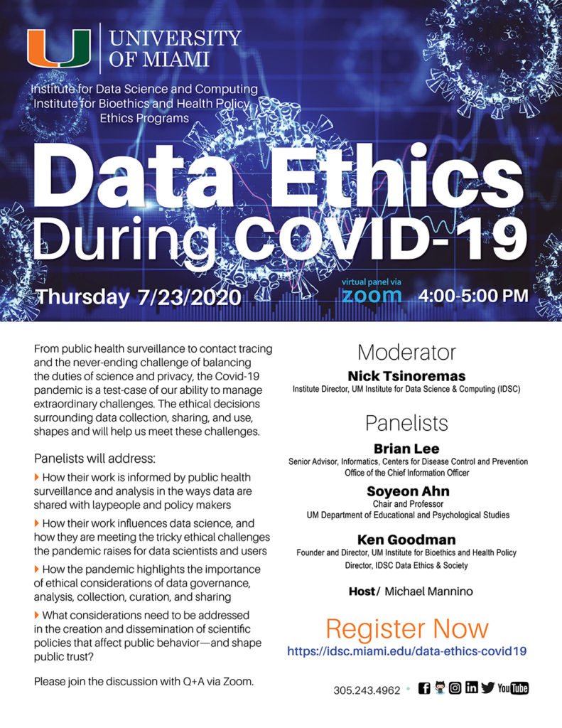 Data Ethics During COVID-19 Flyer