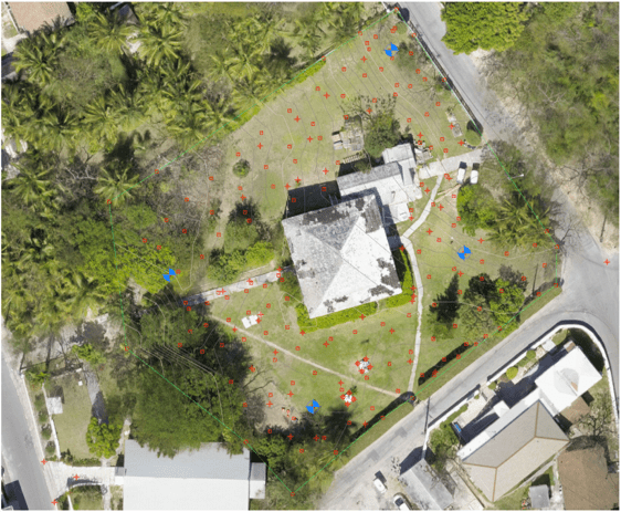 The Residency Harbour Island drone map by University of Miami Institute for Data Science and Computing Software Engineering Team