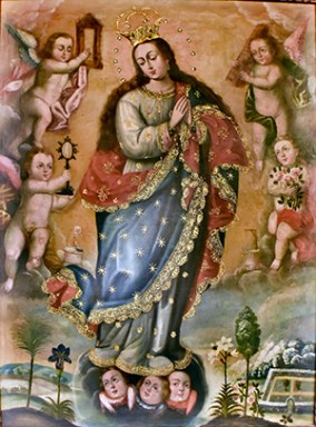 Immaculate Conception painting by Giovanni Battista Tiepolo at Nuestra Senora de la Merced Chapel, Allapattah, Miami