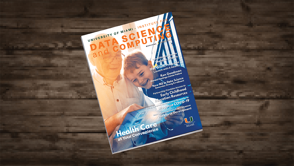 University of Miami Institute for Data Science and Computing Spring 2021 magazine cover