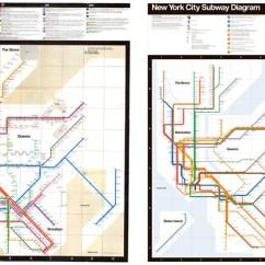 New York City Subway Diagram 2008 Ford Focus Stereo Wiring Here S A Geographically Accurate Nyc Map Citylab Vignelli Associates