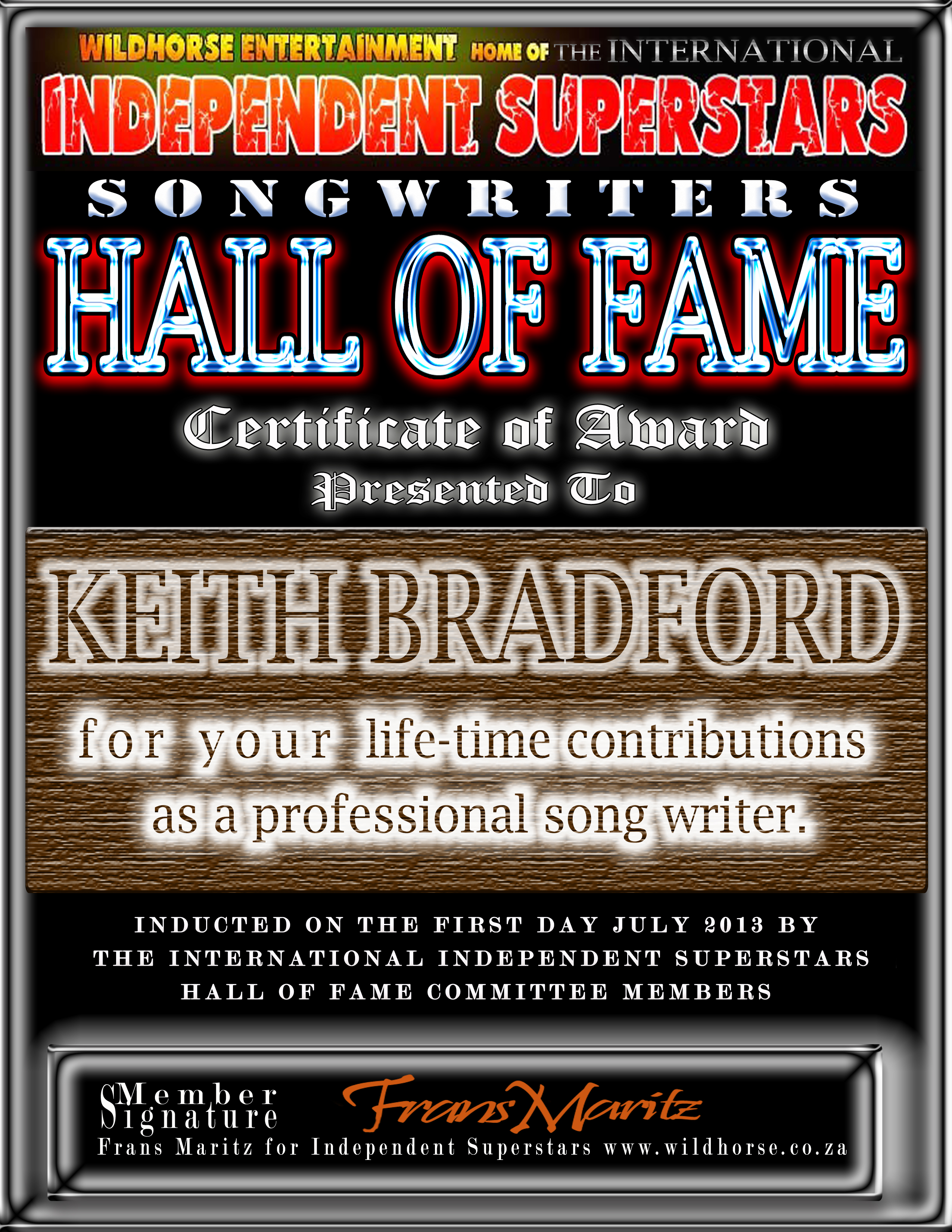 george jones rocking chair covers wedding to buy larry m clark inducted in idss songwriter hall of fame
