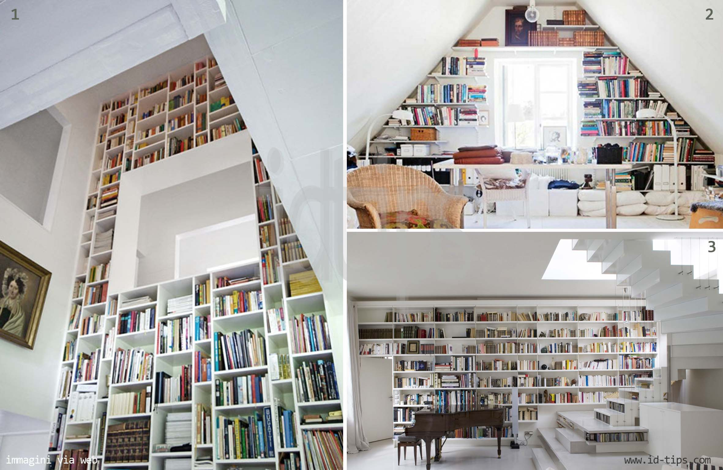 Book wall quando i libri arredano  IdTips  Interior Design Tips Blog