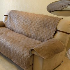 Quilted Microsuede Sofa Cover Alton Russet Innx Microfiber Suede Chair Loveseat Couch