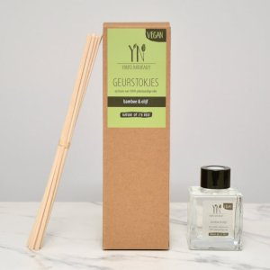 geurstokjes bamboe en olijf