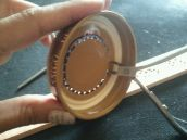 Use wire cutters to finish cutting out your circle