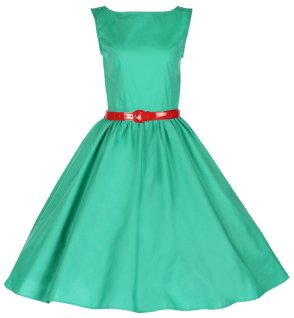 Vintage Audrey Hepburn Style 1950's Rockabilly Swing Dress