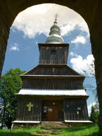 Cerkiew w Radoszycach (latem 2011r.) - widok spod dzwonnicy