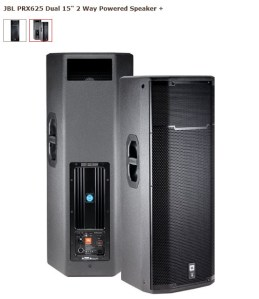 JBL PRX625 Dual 15' 2-way Active Powered PA Speaker 1500 W