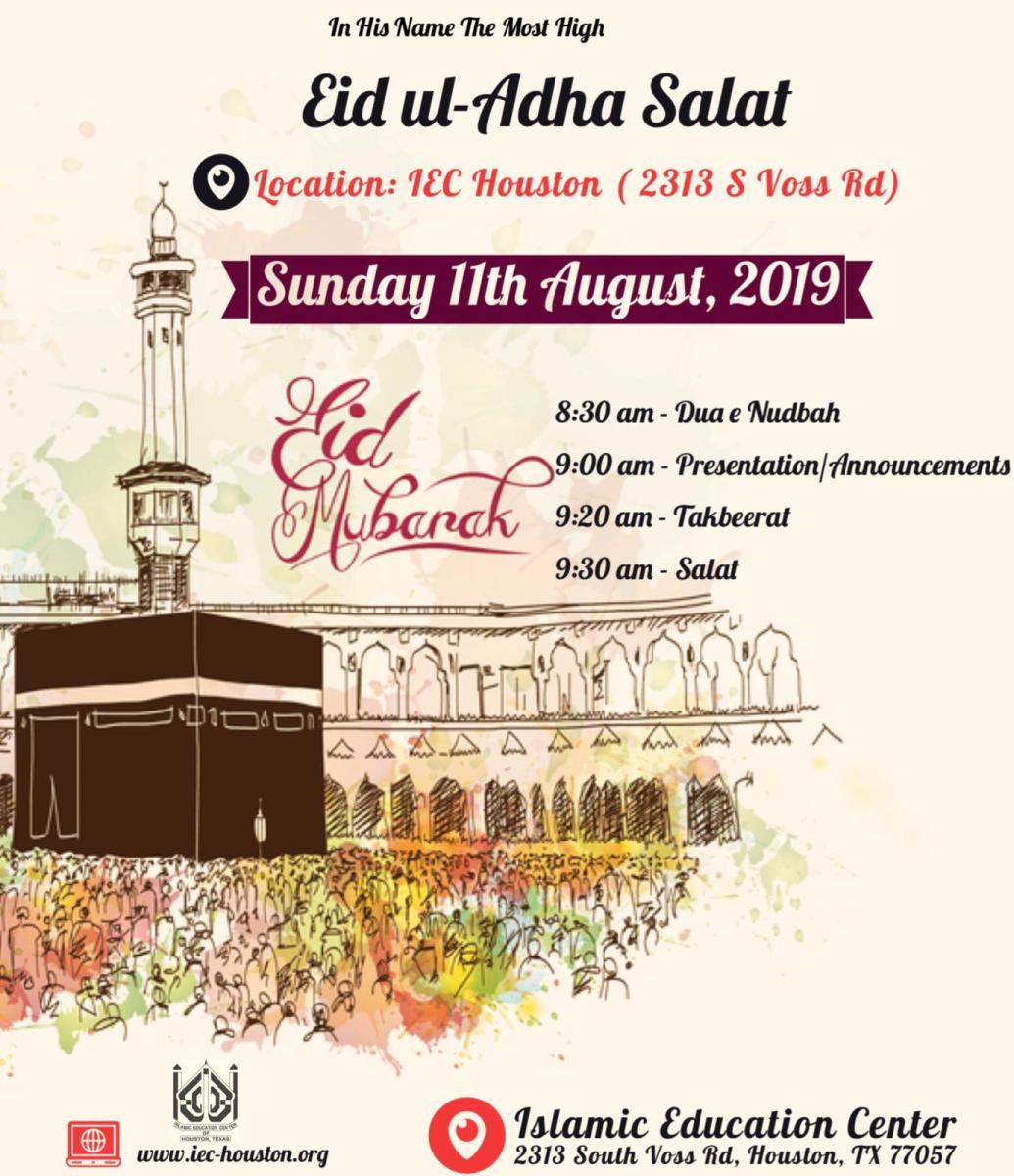 Eid ul Azha Congregation & Prayers – Islamic Education Center