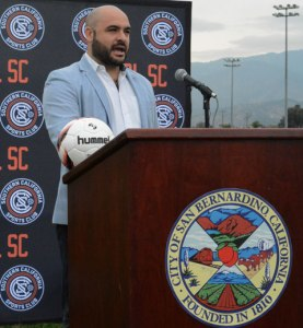 Photo/Richard Dawson Daniel Gamba, General Manager of SoCal Sports Club, discussed the partnerships, improvements and future goals that will shape the new Soccer Complex.​