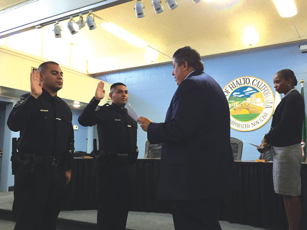 Rialto police welcomes two new officers - Inland Empire Community ...