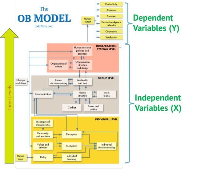 Organizational Behavior Model Chart