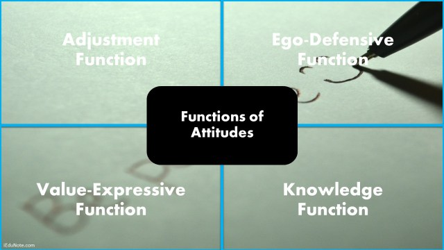 Functions of Attitudes
