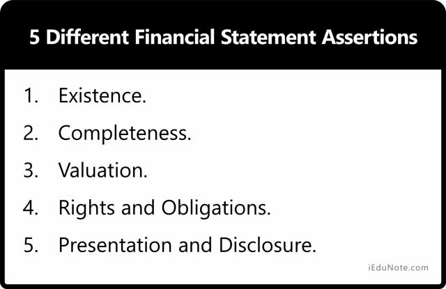 5 Different Financial Statement Assertions