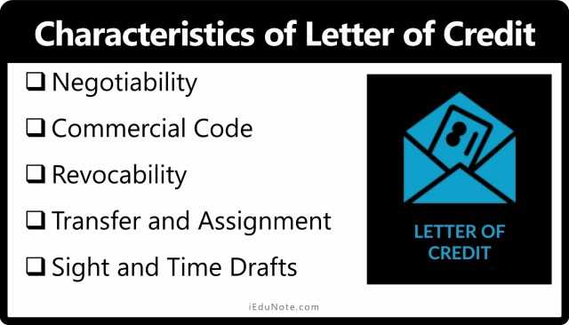 Characteristics of Letter of Credit