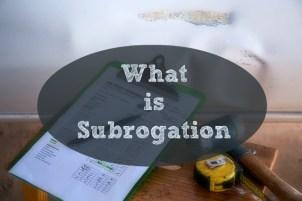 Subrogation Principle in Insurance