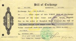 Bill of Exchange as Negotiable Instrument