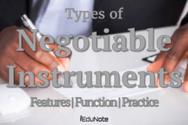 Negotiable Instruments types Features, Function, Practice
