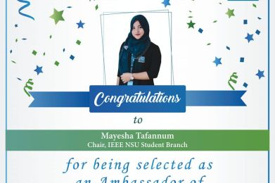 Congratulating our INSB Chair!