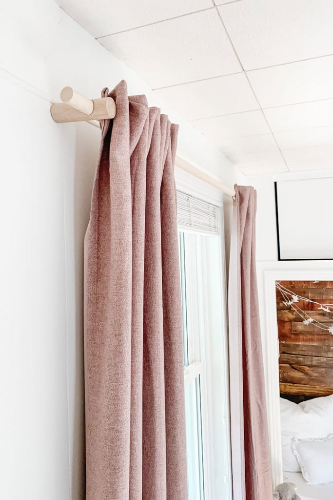 wooden curtain rod for cheap