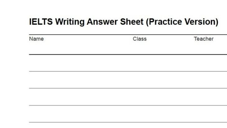 ielts writing answer sheet  download as pdf