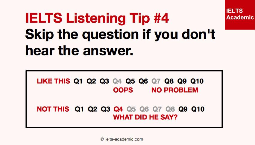 IELTS Listening Tip 4